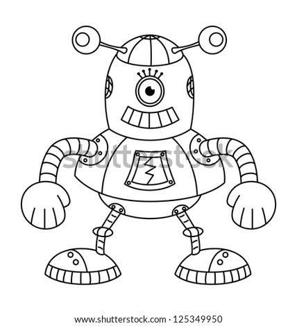 coloring book with robot