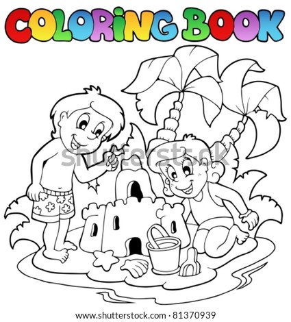 coloring book with summer theme
