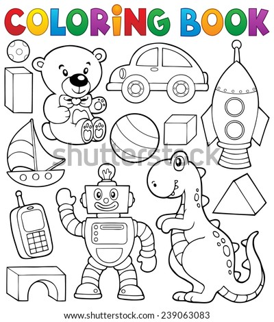 coloring book with toys