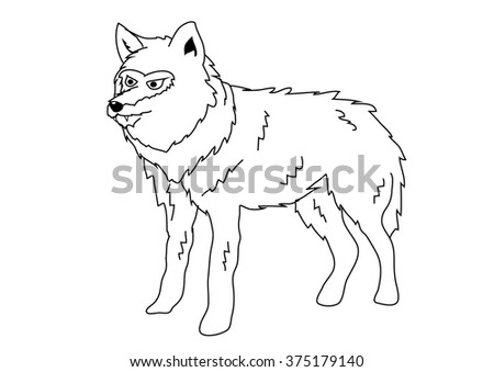 coloring book   wolf