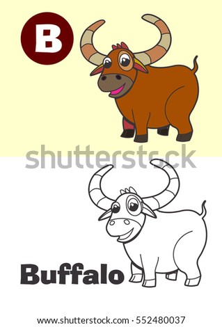 coloring buffalo for children