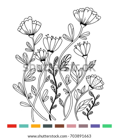 coloring butterfly flowers on