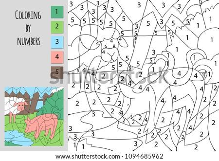 Dibujos para colorear Números - Descargue Gráficos y Vectores Gratis