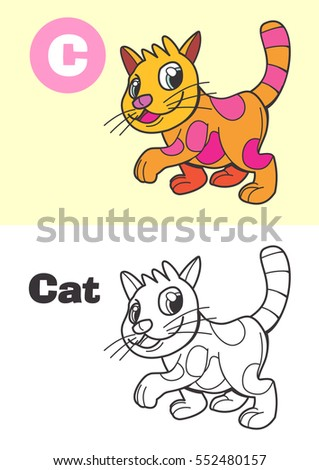 coloring cat for children