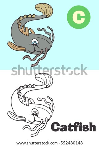 coloring catfish for children