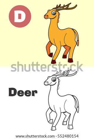 coloring deer for children