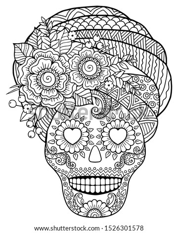 Skull Coloring Pages To Print At Getdrawings Free Download