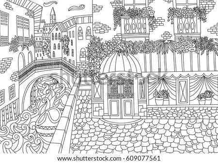 coloring for adult with venice