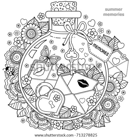 coloring for adults vector
