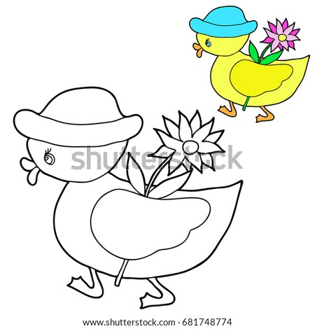 coloring for children duckling
