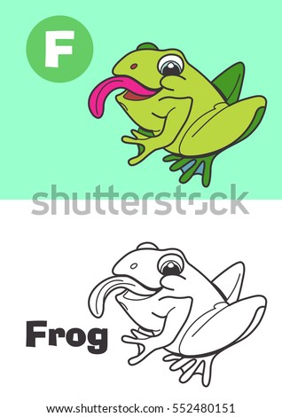 coloring frog for children