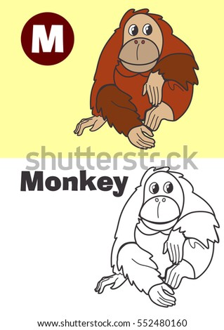 coloring monkey for children