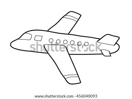 Coloring The Aeroplane Vectors Download Free Vector Art Stock