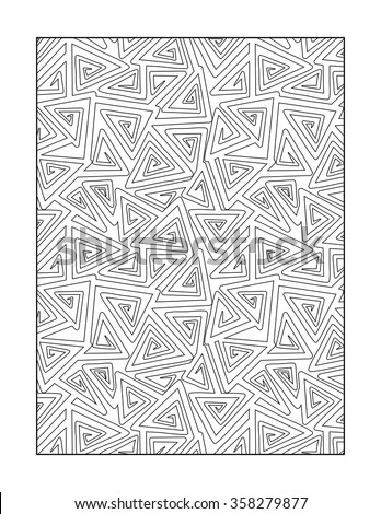 Coloring page for adults (children ok, too) with whimsical abstract pattern, or monochrome decorative background.