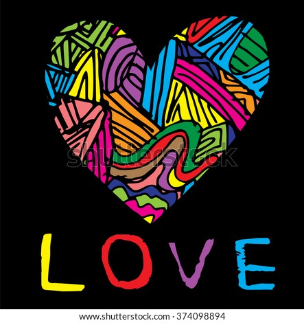coloring page heart st
