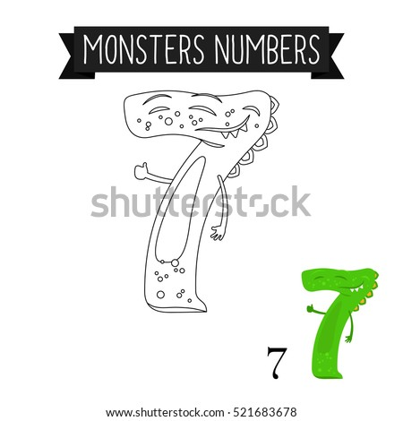 coloring page monsters numbers