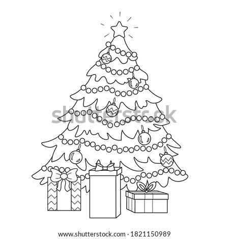 coloring page of a decorated