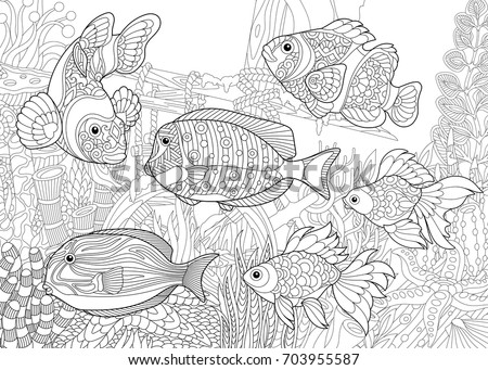 coloring page of underwater