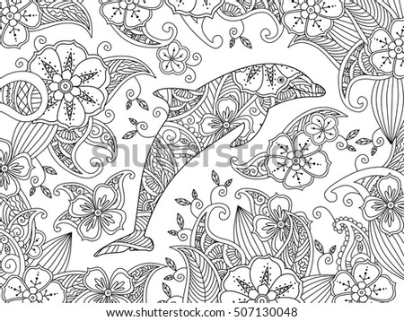 Dolphin Coloring Pages For Adults At Getdrawings Free Download