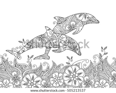 coloring page with pair of