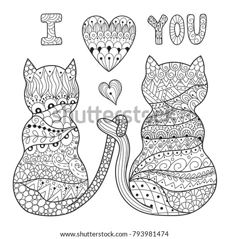 coloring page with two romantic