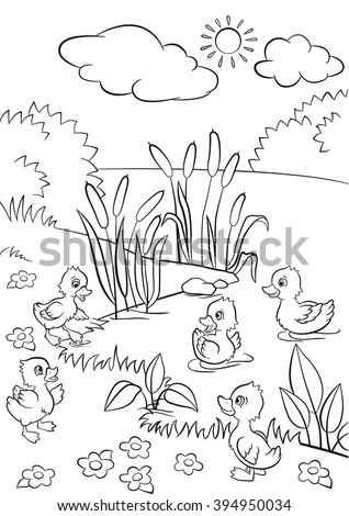 coloring pages five little