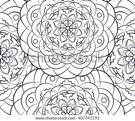 Free Mandala Vector Flower Illustration