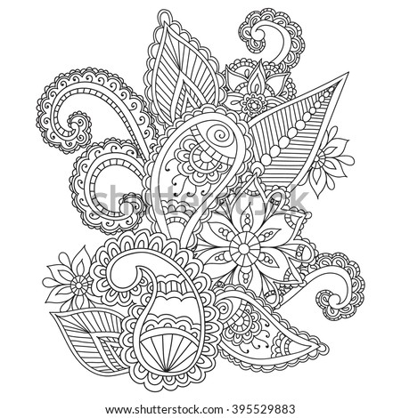 Elegant Zentangle Patterned Unicorn Stock Photo