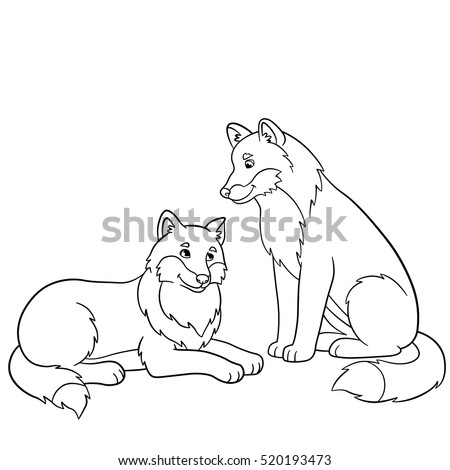 coloring pages two cute
