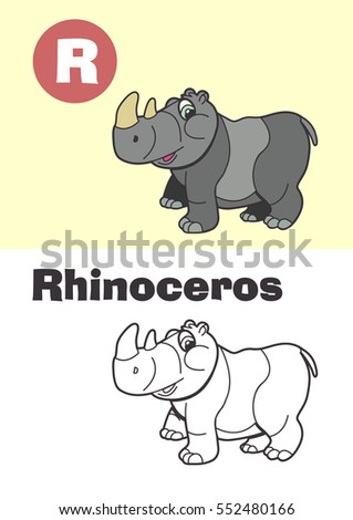 coloring rhinoceros for