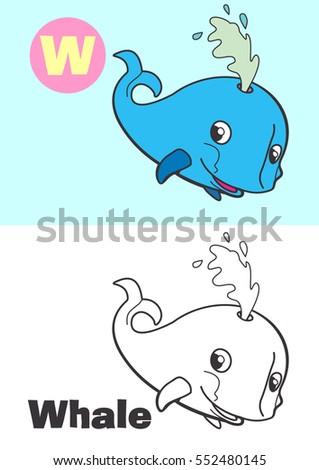 coloring whale for children