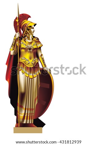 colorized figure of the goddess