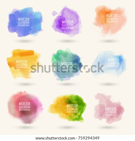 colors watercolor paint stains