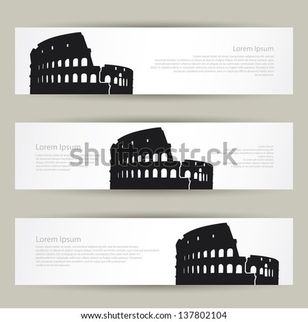 colosseum banners   vector