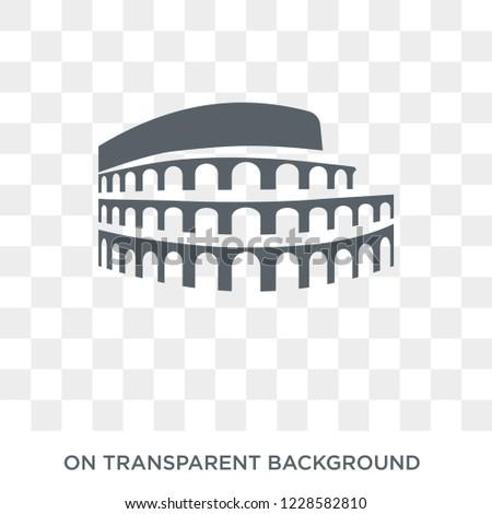 colosseum icon trendy flat