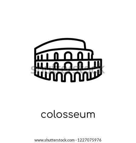 colosseum icon trendy modern