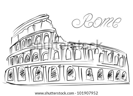 how to draw a simple coliseum