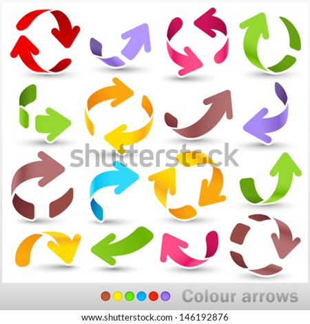 Colour arrows