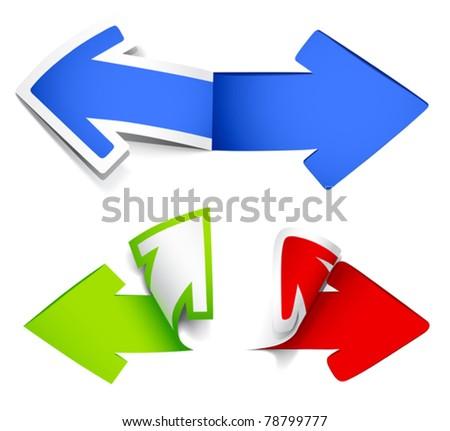 Colour arrows. Vector illustration