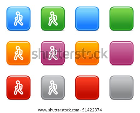 Colour buttons with pedestrian icon