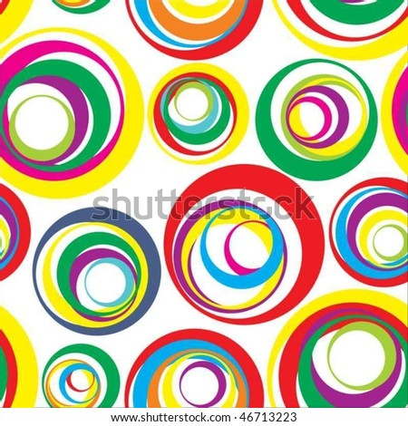 Colour circles on a light background
