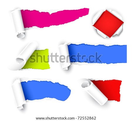 Colour paper - stock vector
