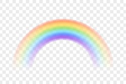 Colour rainbow isolated on transparent background. Vector illustration