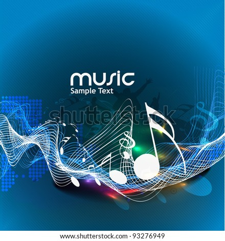 Colour vector the music poster design use. - stock vector