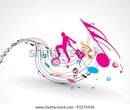 colour vector the party dance