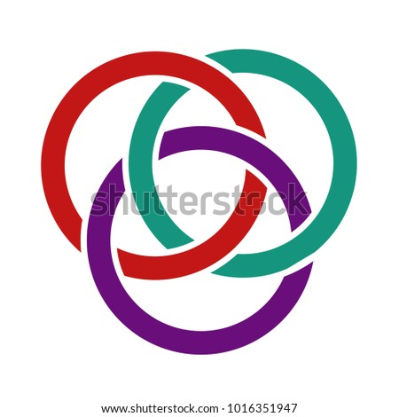 coloured interlocking circles