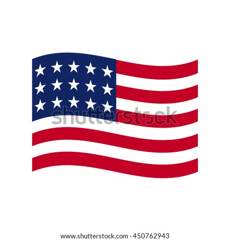 coloured usa flag vector