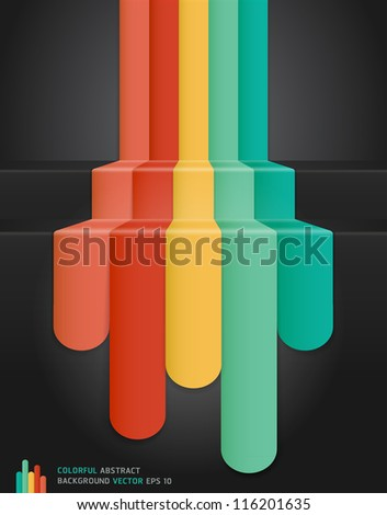 Colourful Abstract Background. Vector illustration