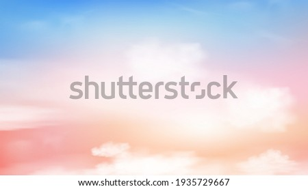 colourful cloudy sky with