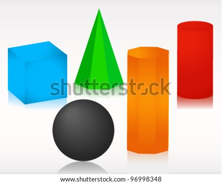 Colourful Geometry Shapes Vector